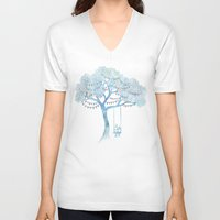 summer V-neck T-shirts featuring The Start of Something by David Fleck