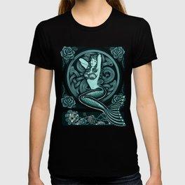 Blue Mermaid - Monochrome T-shirt