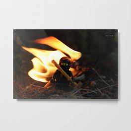fighting fire Metal Print
