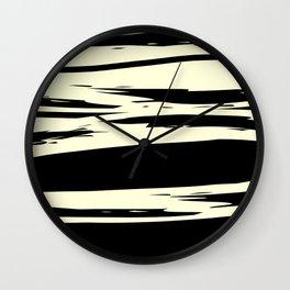 black + vanilla Wall Clock