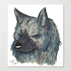 Brush Breeds-Norwegian Elkhound Canvas Print