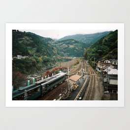 Choo Choo Through The Valley Art Print