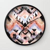 southwest Wall Clocks featuring Southwest Floral by Casey Saccomanno