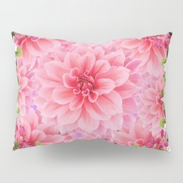 ORNATE PINK FLOWER COLLAGE WITH BLACK Pillow Sham