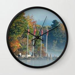 Morning Glory in the Adirondacks Wall Clock