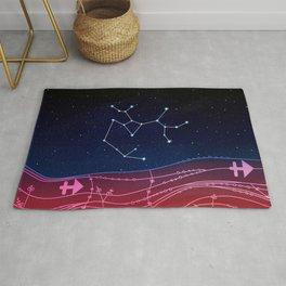 Sagittarius Zodiac Constellation Design Rug