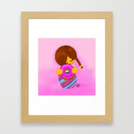 I heart donuts Framed Art Print