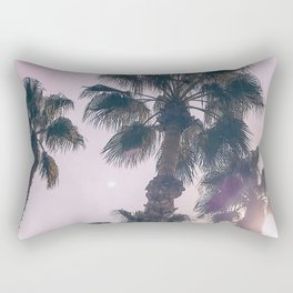 Palm Tree Art Print {2 of 3} | Magenta Pastels Topical Beach Plant Nature Vacation Sun Vibes Artwork Rectangular Pillow