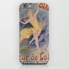 Affiche folies bergere   fleur de lotus. 1893  iPhone Case