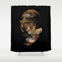 baroque Shower Curtains featuring Baroque by Tobias Bowman