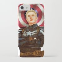 steve rogers iPhone & iPod Cases featuring Steve Rogers by chazstity
