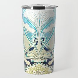 silver art nouveau Travel Mug