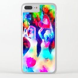 Rainbow Sisterhood Clear iPhone Case