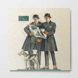 PKZ Men's Vintage Fashion Poster Metal Print
