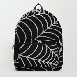 Spiderweb | Silver Glitter Backpack