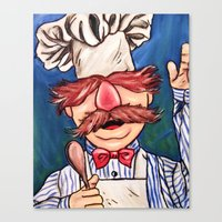 chef Canvas Prints featuring Swedish Chef by MSG Imaging