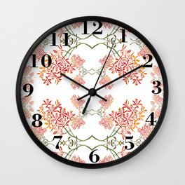 Orchids on White Wall Clock