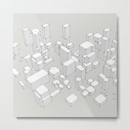 City of volumes Metal Print