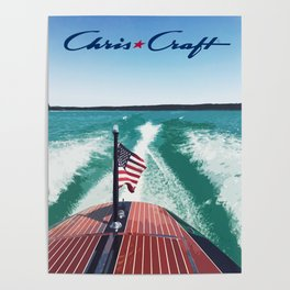 Chris Craft Boating Poster