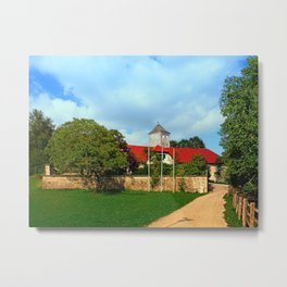 The pathway to Reichenau castle | architectural photography Metal Print