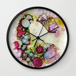 mon loup doux Wall Clock