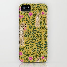 Jungle Fever - Mustard iPhone Case