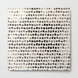 Small Black Squares Metal Print