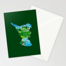 Watercolor Silhouette Neverland Stationery Cards