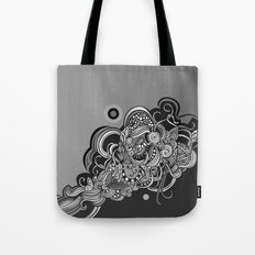 Detailed diagonal tangle, Black Tote Bag