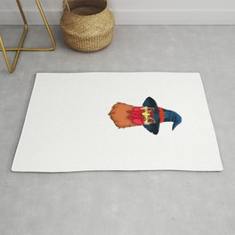 Witch Chicken, It's Show Time Funny Halloween Horror Scary Rug