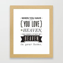 Someone In Heaven-BLACK Framed Art Print