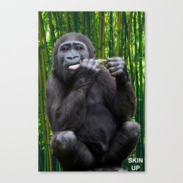 Skin-up Gorilla Canvas Print