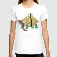 ninja turtle T-shirts featuring ninja - red by Louis Roskosch