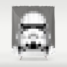 Stormtrooper 8-Bit Shower Curtain