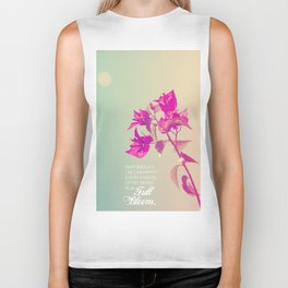 Full Bloom - Rumi - Wisdom quote 3 Biker Tank