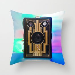 Vintage Art Deco Camera Throw Pillow