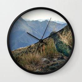 Kea, Fiordland National Park Wall Clock