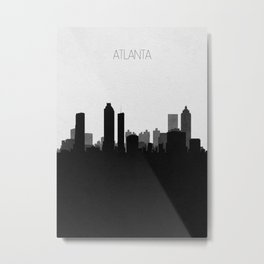 City Skylines: Atlanta Metal Print