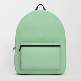 Pastel Mint Green Solid Color - Pairs with Valspar America Green Vibe Patel Green 6002-7B Backpack