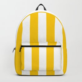 Vertical Stripes Yellow And White Pattern Vertical Lines Preppy Decor Geometric Retro Modern Minimal Backpack