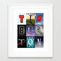 tim burton Framed Art Prints featuring Tim Burton by Fallis Design