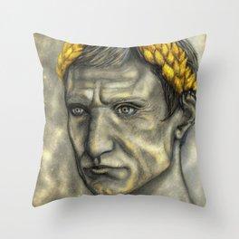 Golden Gaius Throw Pillow