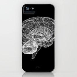 DELAUNAY BRAIN b/w iPhone Case