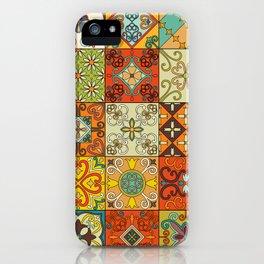 Vintage mosaic talavera ornament iPhone Case