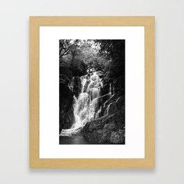shiraito falls, fukuoka, Japan june 2018 (film photography) Framed Art Print
