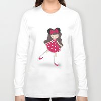 minnie Long Sleeve T-shirts featuring minnie love by made by kale