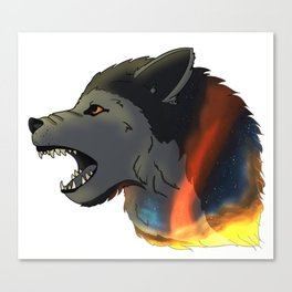 Space Wolf! Canvas Print
