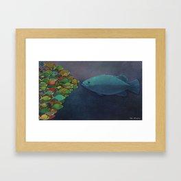 FACE ON Framed Art Print