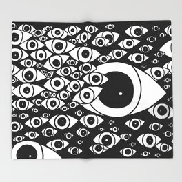 Dead Eyes Throw Blanket