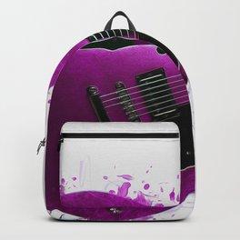 Electric Guitar Purple Backpack